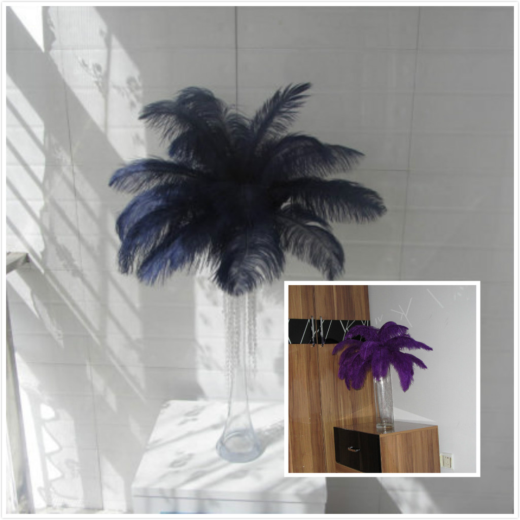 500 purple, 300 navy blue ,10-12inch ostrich feathers