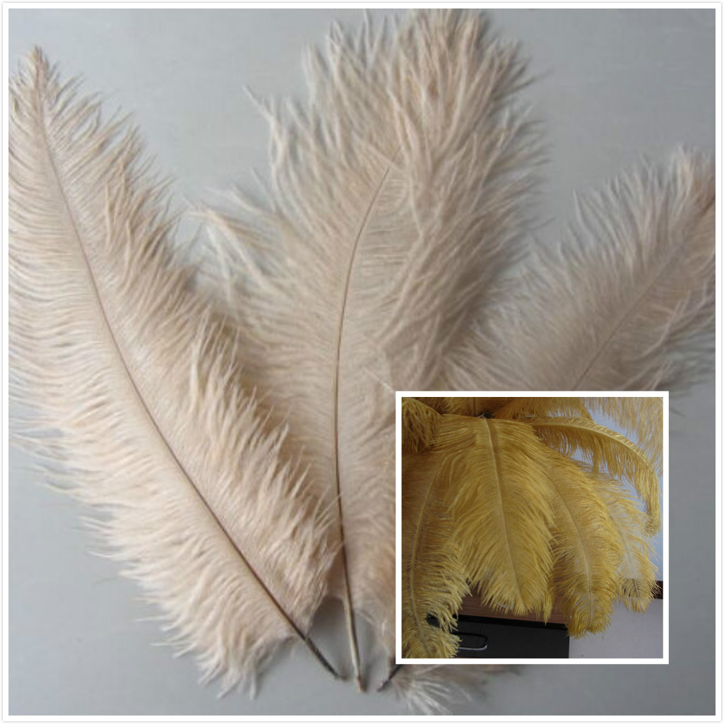 350feathers 14-16inch ostrich feathers( lime green color)