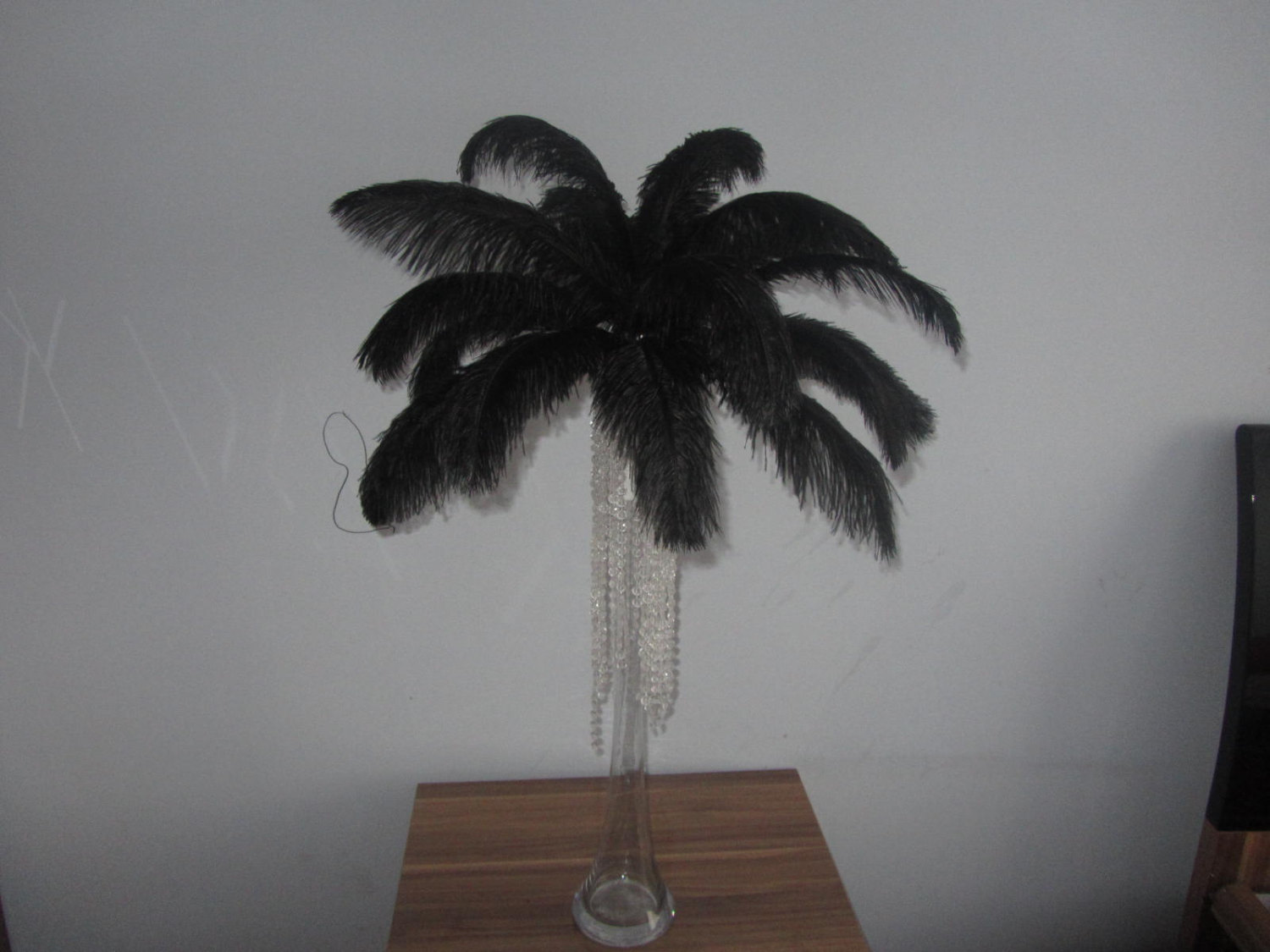 175 black 16-18 inch AND 250 black 12-14 inch ostrich feathers
