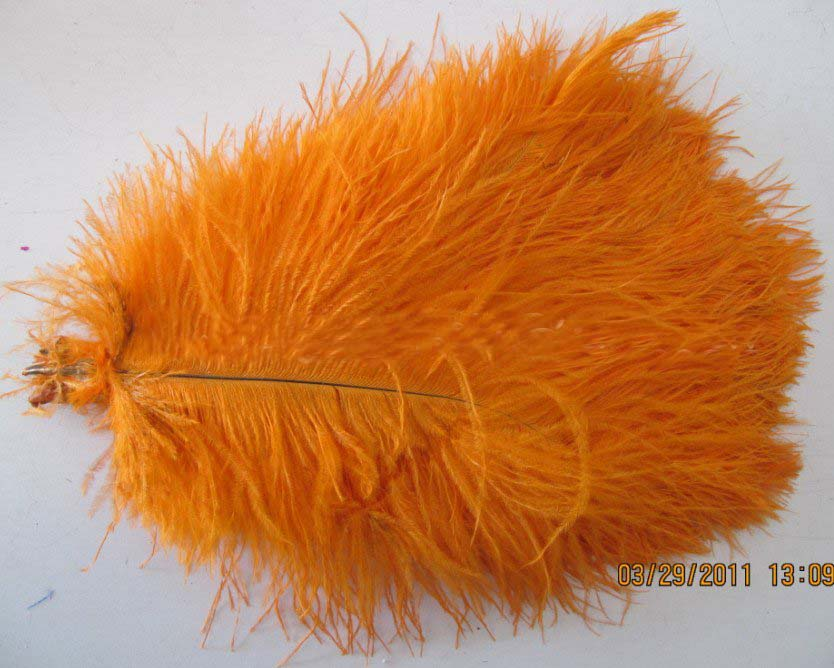 1214OrangeOstrichFeatherPlumewedding decorative feather